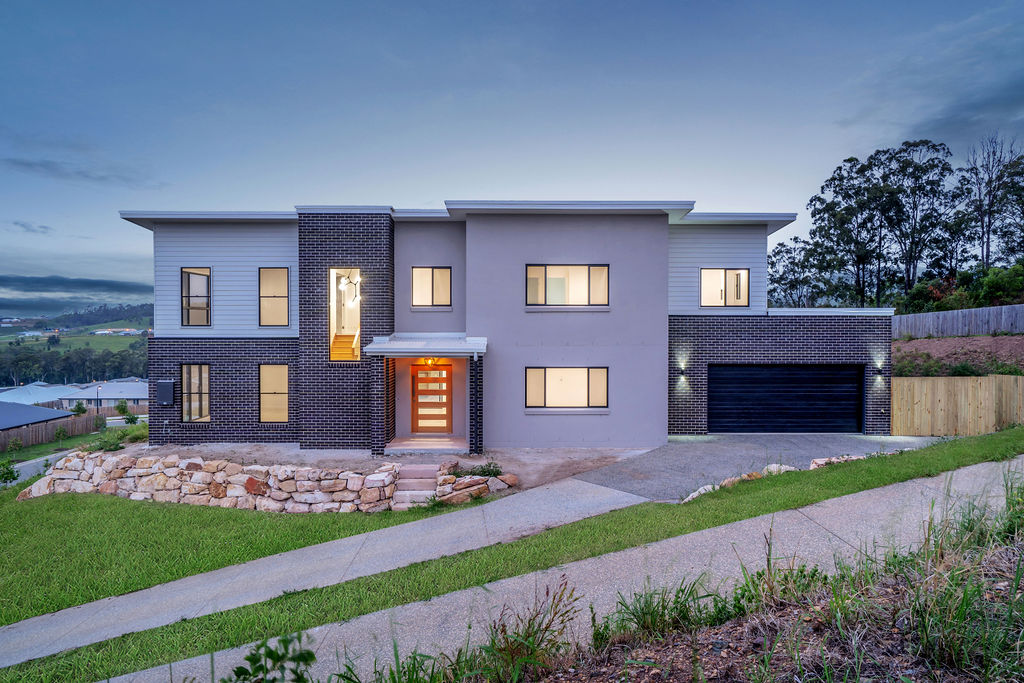 Sloping Block - Double Storey Home by Custom Styled Homes