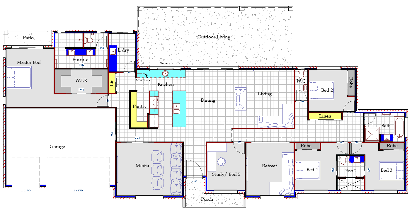 Claire - Single Storey Home by Custom Styled Homes - Gold Coast & Brisbane Home Builders