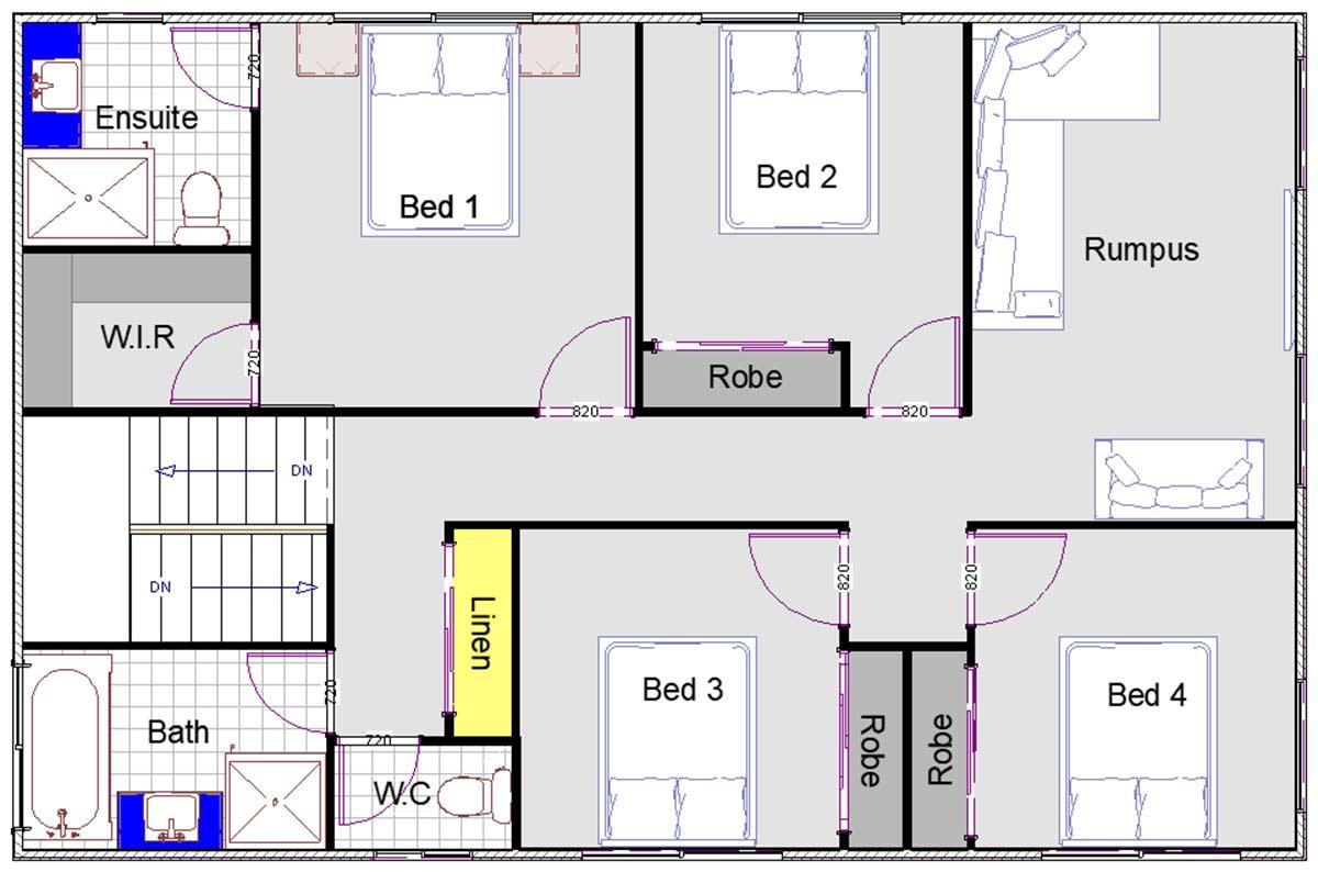 Emma-Lee - Double Storey Home by Custom Styled Homes - Lower Floor Plan - Brisbane & Gold Coast Home Builders